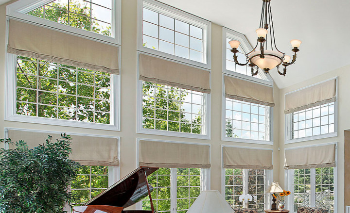 Two-Story Window Treatments