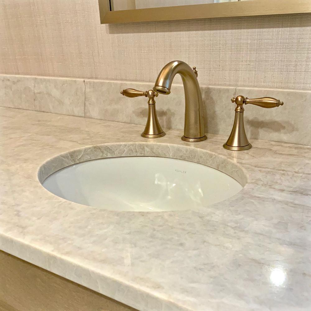 Taj Mahal Quartzite Countertop Bathroom Colleen Mcnally Interiors