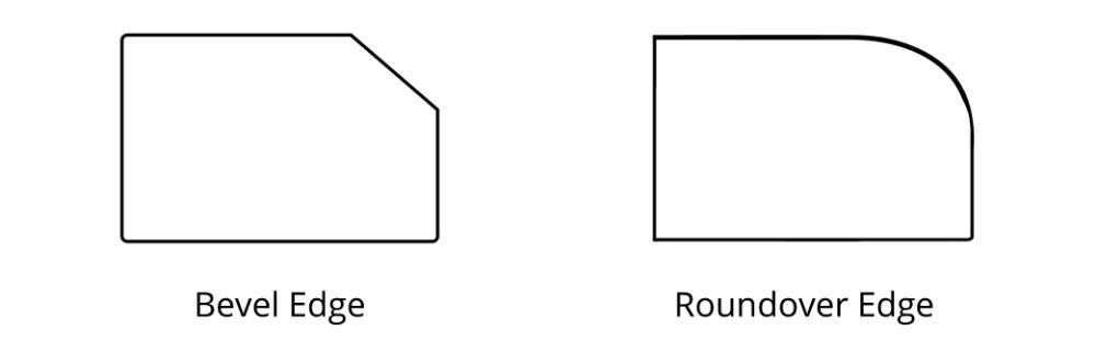 Bevel Edge Roundover Edge Countertops 01