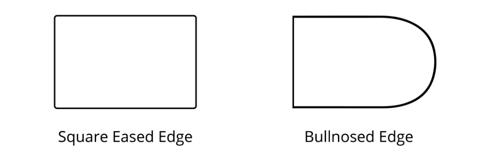 Square Eased Edge Bullnose Edge Countertops 01