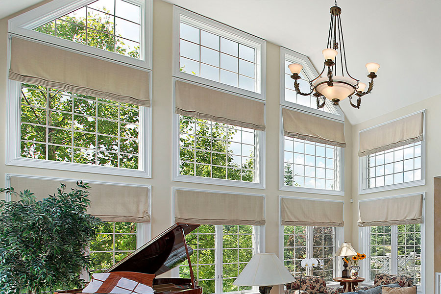 Colleen Mcnally Interiors Two Story Window Treatments